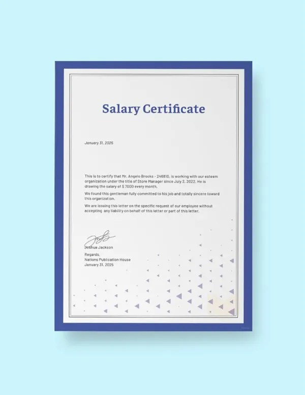 Salary Certificate Formats - 22+ Free Word, Excel, PDF Documents