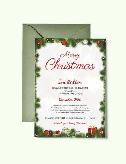 31+ Christmas Party Invitation Templates - PSD, AI, Word, Publisher