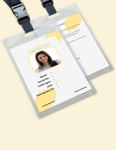 Free Photo Identity Card PSD Template Set PsdDaddyofficial store
