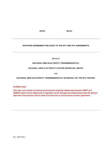 Novation Agreement Format