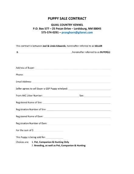 Puppy Sale Contract Elitaaisushidog Bill Of Sale Template U2013