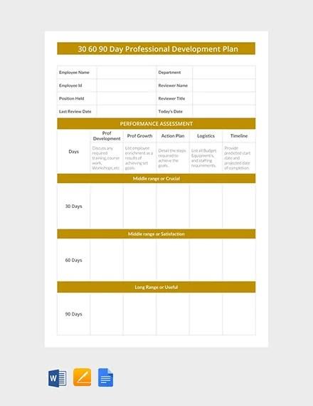 23+ 30 60 90 Day Plan Templates - PDF, DOC Free  Premium Templates