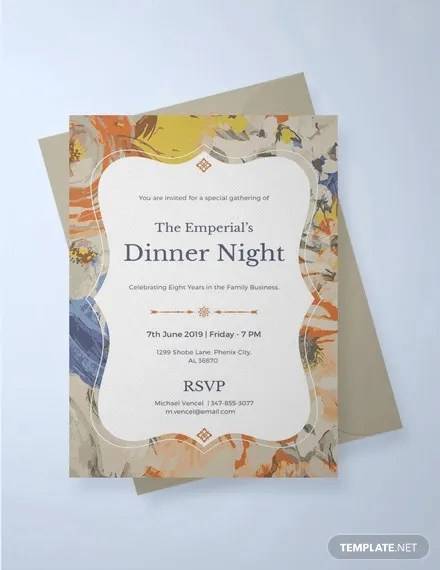 28+ Formal Dinner Invitations - PSD, Word, AI, Publisher, Apple