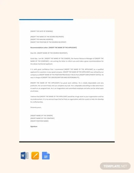 8+ Job Recommendation Letters - Free Sample, Example Format Download