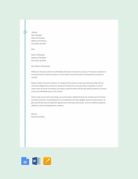10+ Sales Letter Templates - PDF, DOC Free  Premium Templates