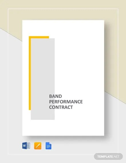 8+ Sample Band Contract Templates - Word, PDF, Google Docs Free