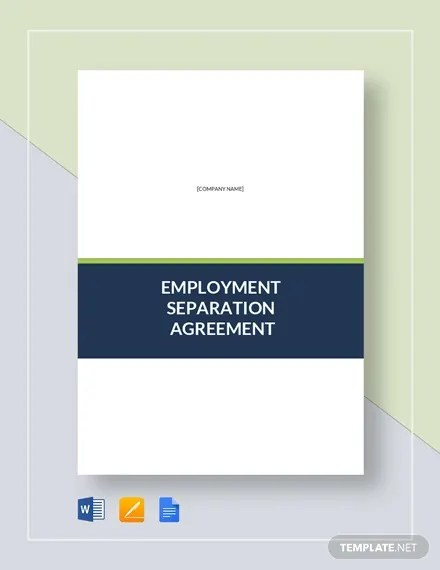 Separation Agreement Template \u2013 15+ Free Word, PDF Document Download