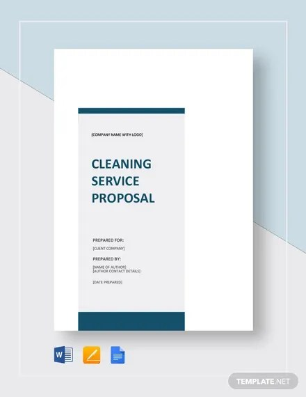 15+ Cleaning Proposal Templates - Word, PDF Free  Premium Templates