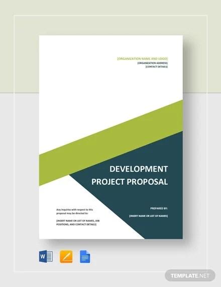 10+ Development Project Proposal Templates - Word, PDF Free