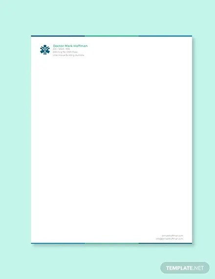 11+ Doctor Letterhead Templates - Free Word, PDF Format Download