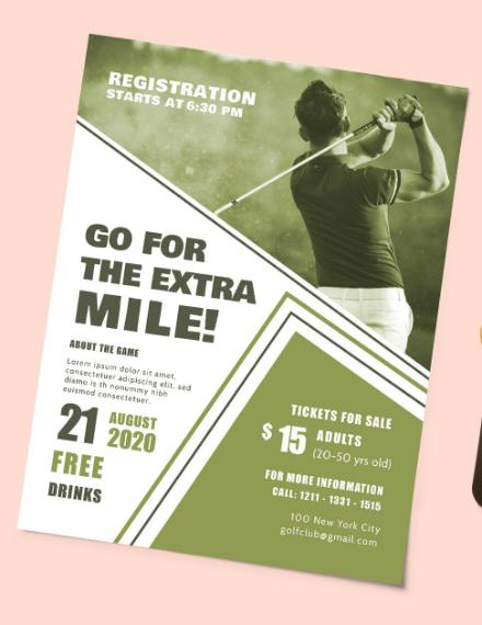 How to Make a Golf Tournament Flyer 10+ Templates Free  Premium