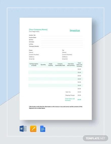 Proforma Invoice - 18+ Free Word, Excel, PDF Documents Download