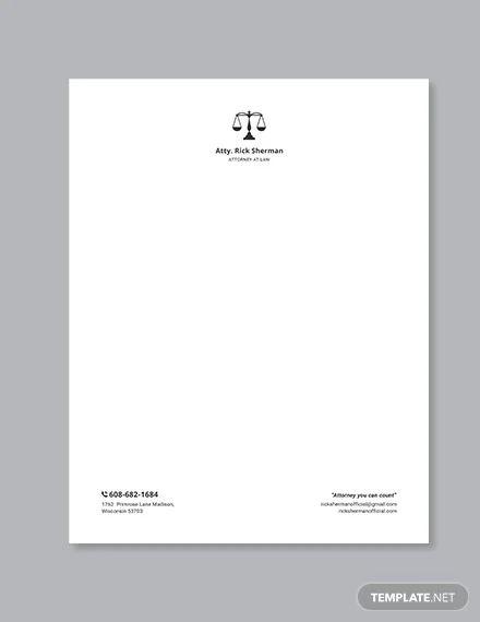 sample attorney letterhead