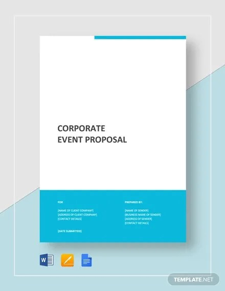 Corporate Event Proposal Template - 8+ Free Word, PDF Format