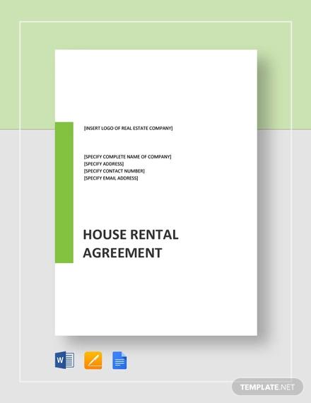 18+ House Rental Agreement Templates - DOC, PDF Free  Premium