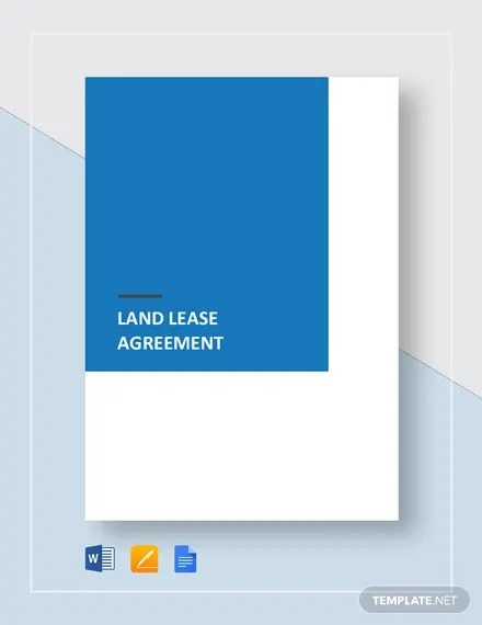 Land Lease Agreement Template - 14+ Free Word, PDF Documents