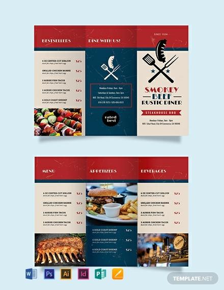 15+ Best Restaurant Brochure Templates - Illustrator, Word