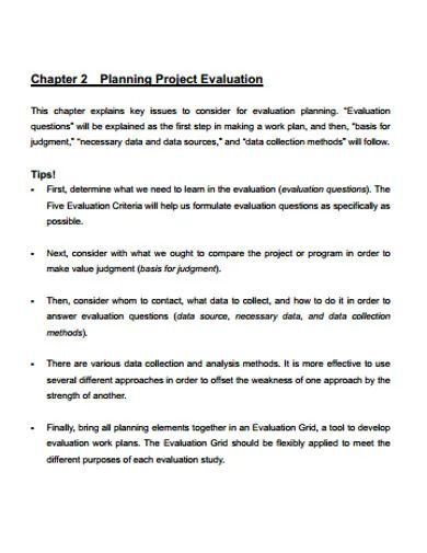 project evaluation template