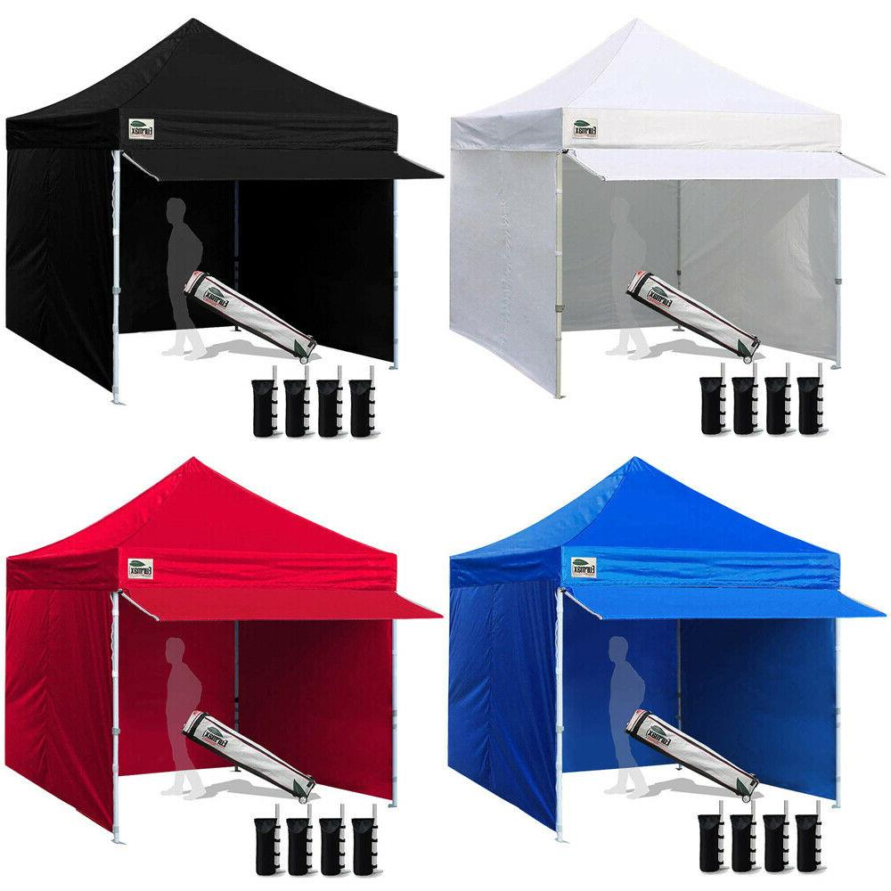 Pop Up Canopy Ez Pop Up Canopy 10x10 Commercial Outdoor Tent Instant Party Shelter W 4 Walls