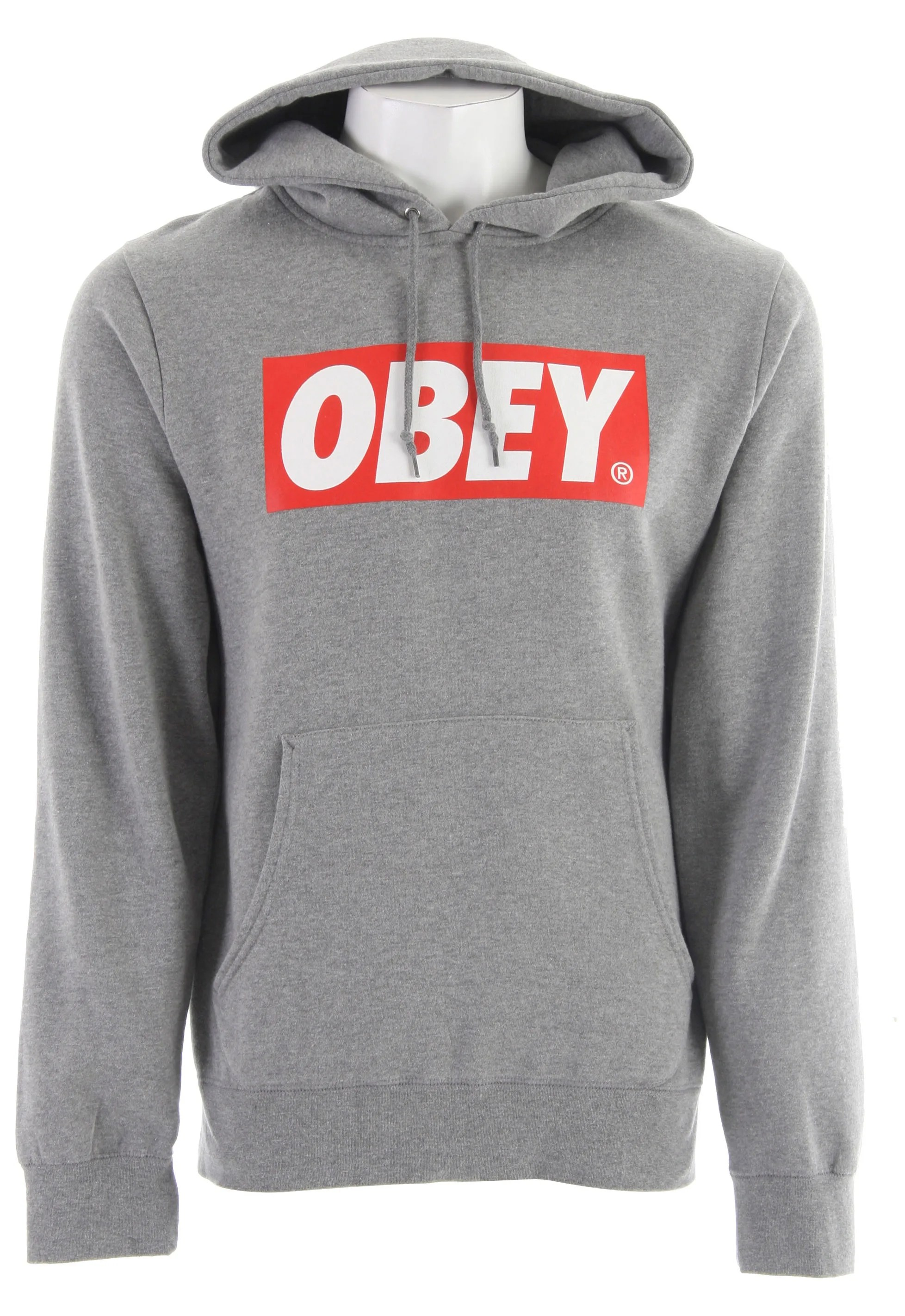 Pullover Hoodie Grey On Sale Obey The Box Hoodie Up To 70 Off