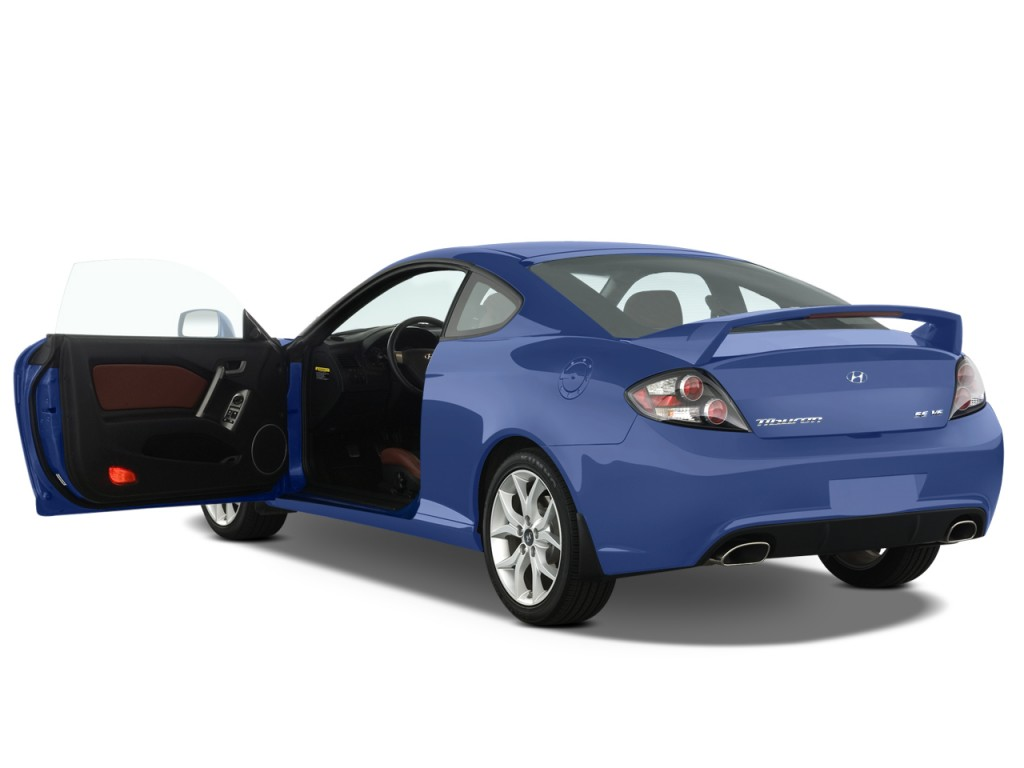 Two Door Cars 2008 Hyundai Tiburon 2 Door Coupe Auto Gt Limited Open Doors