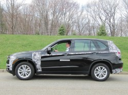 BMW X5 e-Drive plug-in hybrid prototype, test drive, Woodcliff Lake ...