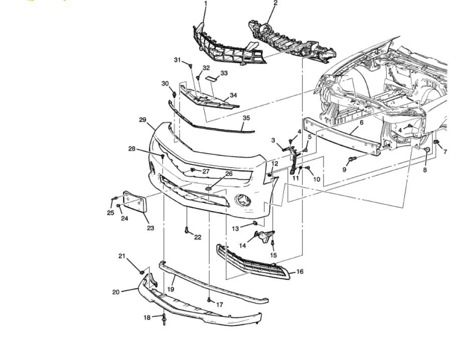 2011 chevrolet camaro convertible auto parts diagrams