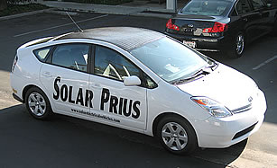 Solar powered Prius
