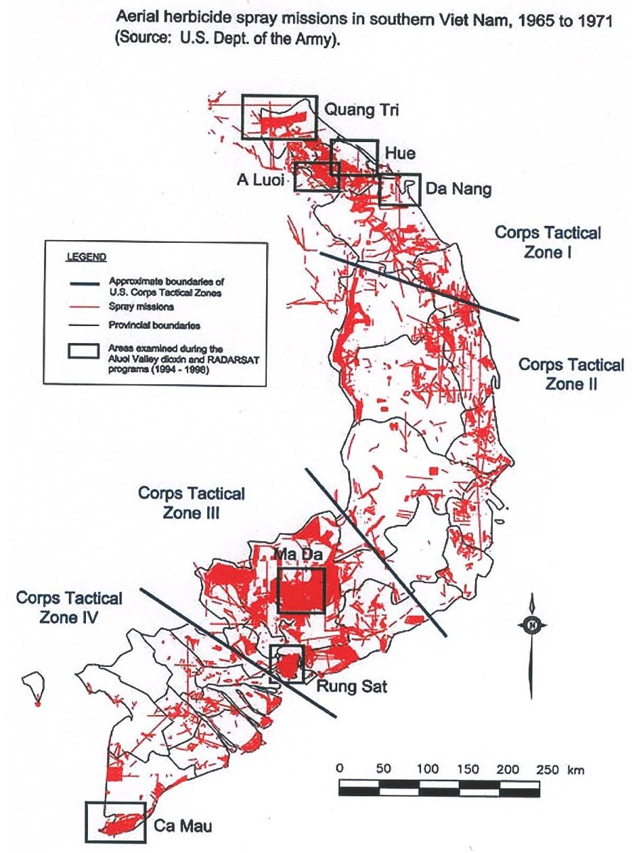 Aerial spraying in central and southern Vietnam. Wikimedia