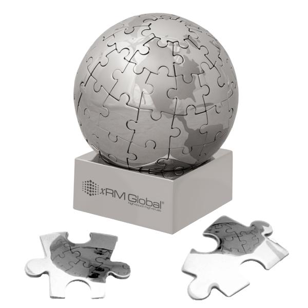 Customized Globe Magnetic Large 72 Piece Puzzle Promotional Globe