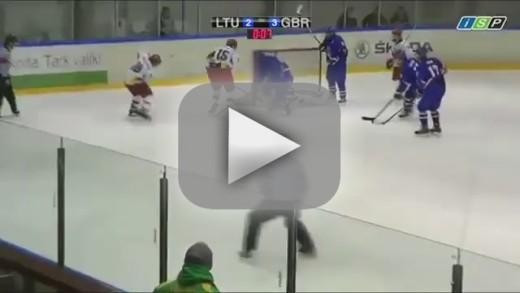 Hockey Player Attacks Ref With Stick