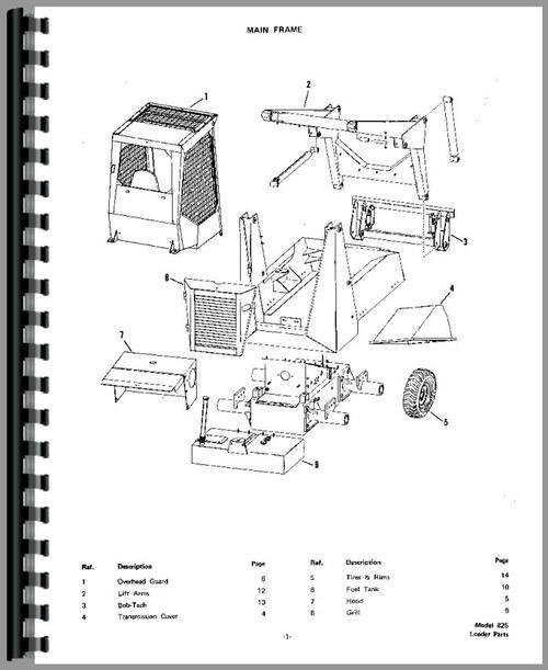 bobcat 763 parts schematic