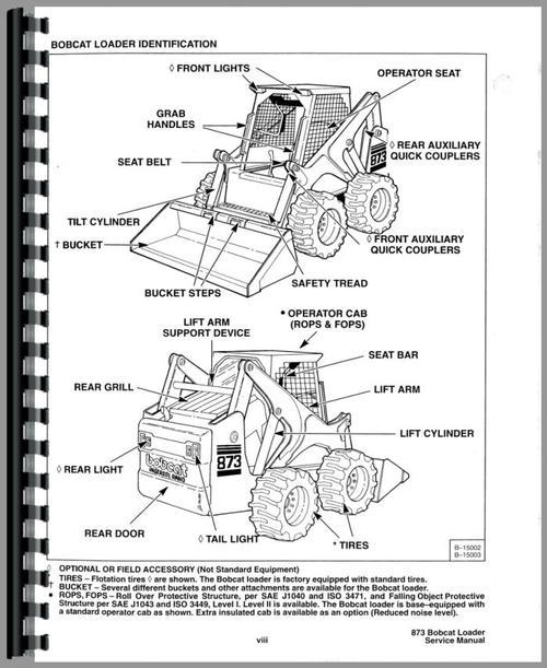 bobcat 873 f series parts diagram