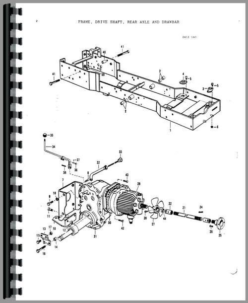 Massey Ferguson 1450 Lawn  Garden Tractor Parts Manual - sample lawn and garden