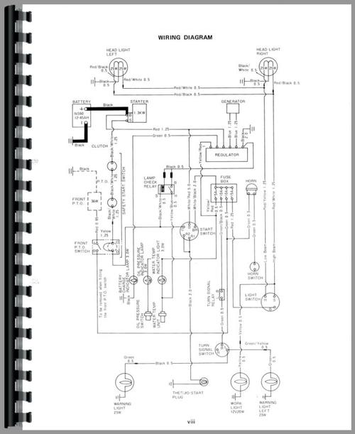 Yanmar 1500 Tractor Wiring Diagrams Wiring Schematic Diagram