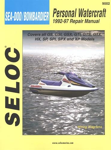 Sea-Doo/Bombardier Jet Ski Repair Manual GS, GSI, GSX, GTS, GTX