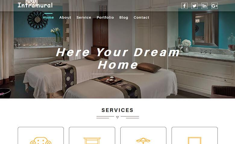 Intramural \u2013 Free Interior Design Website Template ThemeVault