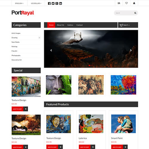 Responsive Art and Culture Website Templates ThemeVault