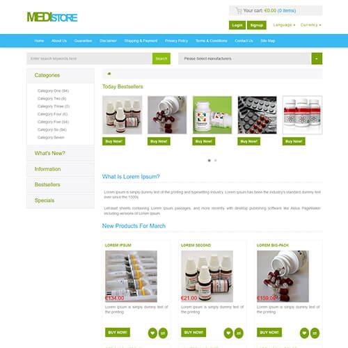 MediStore \u2013 HTML Medical and Drug Store Website Template ThemeVault