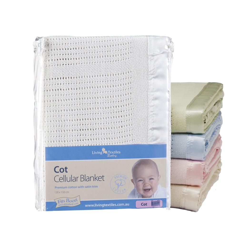 Cellular Cot Blankets Living Textiles Cot Cellular Blanket Green Buy Online At The Nile