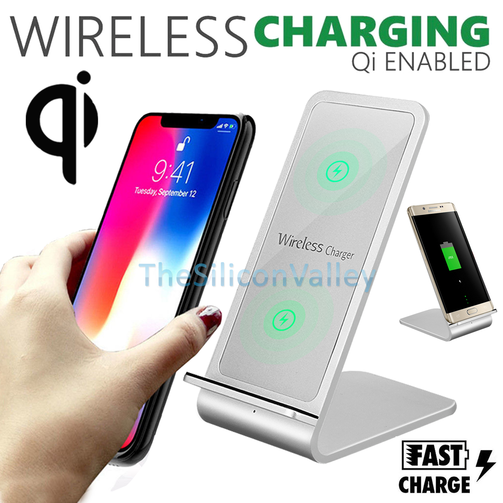 Iphone Cordless Charger Details About Fast Qi Wireless Charger Stand Charging Dock Pad For Samsung Note S8 Iphone X 8