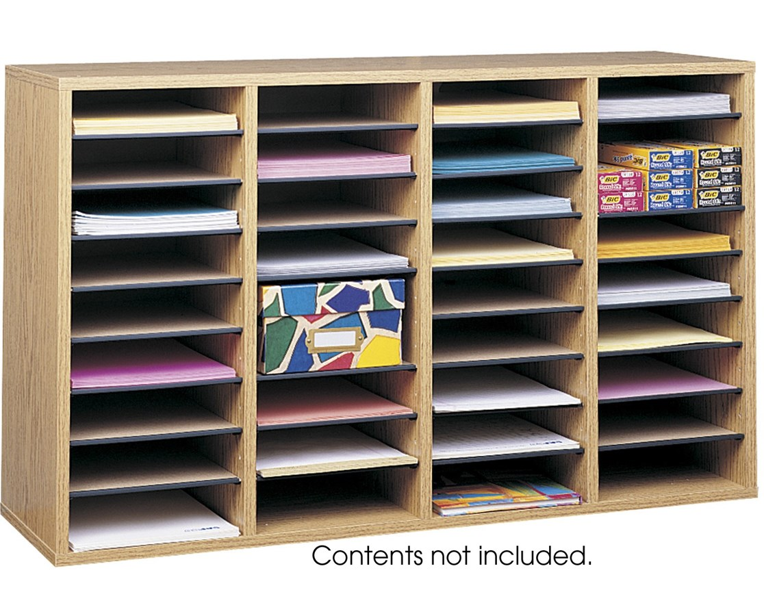 Literature Organizer Wood Safco Wood Adjustable Literature Organizer 9422 Tiger
