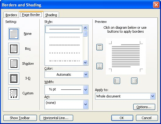 Chopped Off Page Borders (Microsoft Word) - free page borders for microsoft word