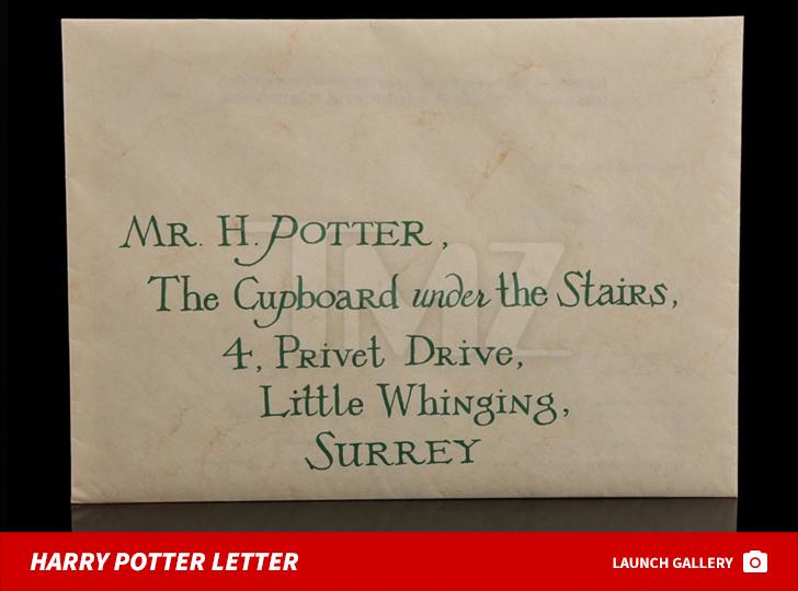 Harry Potter\u0027s Hogwarts Acceptance Letter Up For Auction TMZ