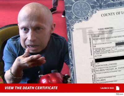 Verne Troyer Death Certificate Reveals Final Destination of Remains | TMZ.com