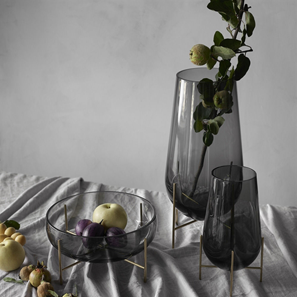 Menu Vase Top3 By Design - Menu - Menu | Echasse Vase | Smoke | Small