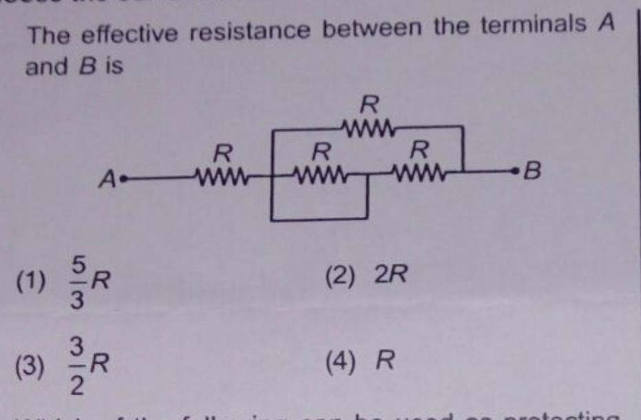 Questions and Answers of Electricity Resistors In Series And