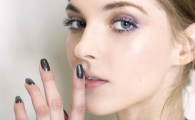 Textured Accents 21 Matte Black Nails That Are Edgy Af