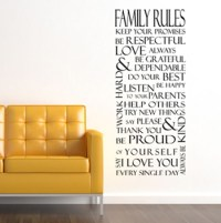Family Rules Rectangle | Wall Decals - Trading Phrases