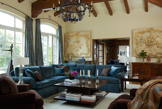 Colorful Living Rooms Traditional Home - traditional living room ideas